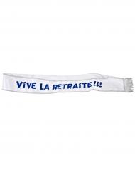 Echarpe en satin Vive la Retraite 9,5 cm