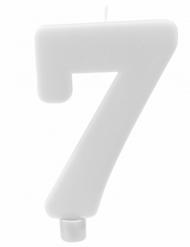 Bougie géante chiffre 7 sur pique blanc 13,5 x 8 cm