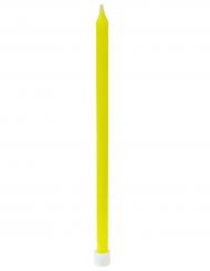 16 Grandes bougies d'anniversaire jaune 12 cm