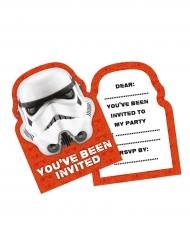 6 Cartes d'invitation Stormtrooper™