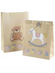 5 Sacs cadeaux avec autocollants Cheval à bascule 11,6 x 17,1 cm