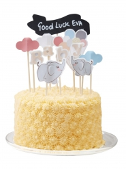 11 Décorations pour gâteau Petit Elephant 22 cm