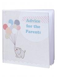 Livre d'or Conseils pour les Parents 32 pages 18 x 18 x 1,5 cm