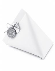 6 Petites boîtes berlingots blancs 10 cm