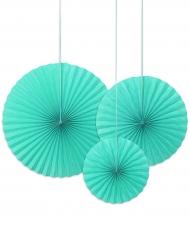 3 Rosaces décoratives turquoise 40, 32 et 23 cm