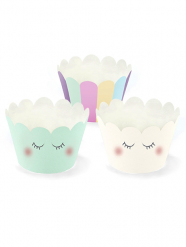 6 Caissettes à cupcake Licorne 7,5 x 5 cm