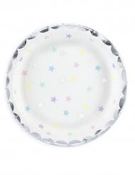 6 Petites assiettes Etoiles 18 cm