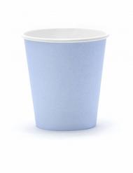 6 Gobelets en carton bleu pastel 180 ml