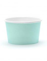 6 Petits pots à glace turquoise 170 ml