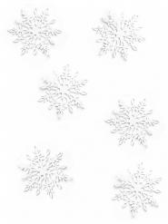 20 Confettis de table Flocons de neige blancs 3,1 x 3,6 cm