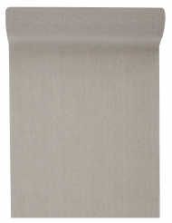Chemin de table en coton naturel taupe 5 m x 28 cm
