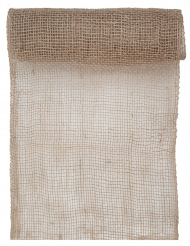 Chemin de table en jute naturel 5 m x 26 cm