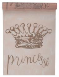 Chemin de table en tissu Princesse rose 5 m x 30 cm