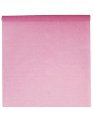 Nappe en rouleau unie en tissu rose 10 m x 120 cm