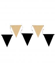 Guirlande fanions en carton noir et kraft 5 m