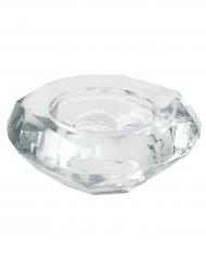 Porte bougie en verre en forme de Diamant 7 x 3 cm