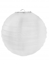 2 Lanternes à suspendre blanc 20 cm