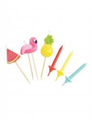 15 Bougies d'anniversaire Summer 7 cm