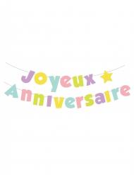 Guirlande en lettre Joyeux Anniversaire pastel 2 m