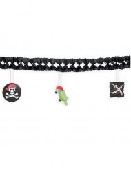 Guirlande en papier Pirate noire 3 m