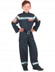 Déguisement pompier noir garçon