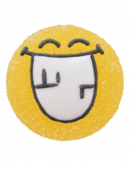6 Figurines en sucre et gélatine Smiley World™ 3 cm