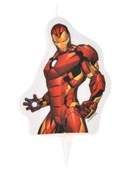 Bougie d'anniversaire Avengers ™ Iron Man 6 x 7,3 cm