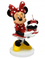 Bougie d'anniversaire 3D Minnie ™ 4,5 x 9 cm