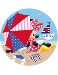 Disque en azyme Minnie ™ Minnie à la plage 21 cm