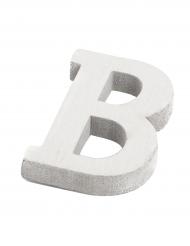 Petite lettre B en bois blanc 5 cm