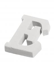 Petite lettre E en bois blanc 5 cm