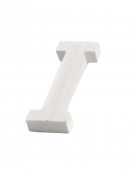 Petite lettre I en bois blanc 5 cm