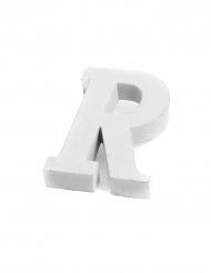 Petite lettre R en bois blanc 5 cm