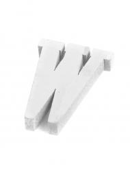 Petite lettre W en bois blanc 5 cm