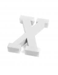 Petite lettre X en bois blanc 5 cm