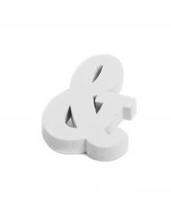 Petite lettre & en bois blanc 5 cm