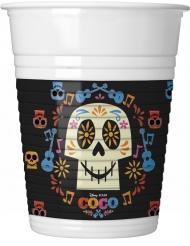 8 Gobelets en plastique multicolores Coco ™ 20 cl