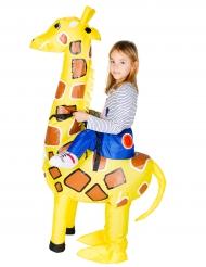 Déguisement girafe gonflable enfant