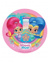 Disque en azyme Shimmer and Shine ™ rose 20 cm