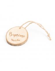 4 Rondins de bois Baptême 4 cm