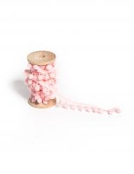 Ruban de pompons rose 1,5 cm x 2 m