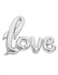 Ballon aluminium Love argenté métallisé 1,04 m x 67,6 cm