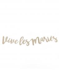 Guirlande Vive les mariés paillettés champagne 1,17 m