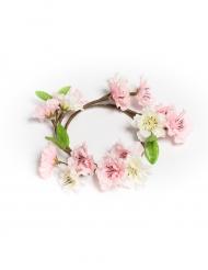 Couronne de fleurs de cerisier rose 16 cm