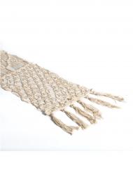 Chemin de table macramé ivoire corde 30 cm x 3 m