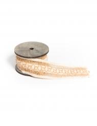 Ruban ajouré en jute naturelle et ivoire 4,5 cm x 2 m