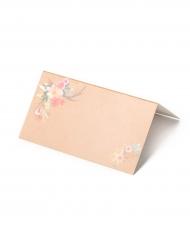 10 Marque-places en carton naturel Folk 9 x 5 cm