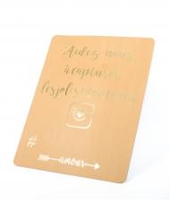 Pancarte Instagram en kraft doré 43 x 56 cm