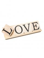 Mot Love sur socle en bois 10 x 34 cm