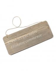 Pancarte en bois romantique 30 x 12 cm